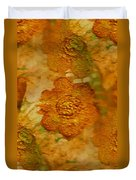 Acryl Painting Goldflowers Duvet Cover