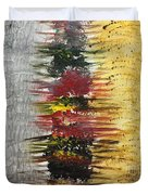 Acrylic Abstract Vertical 15-y.yyy Duvet Cover