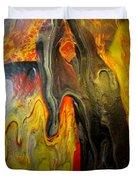 Acrylic Glass Pour 4 Duvet Cover