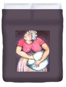 Acrylic Painting Figurative Duvet Cover