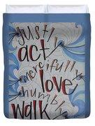 Act Love Walk Duvet Cover