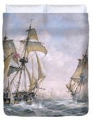 Action Between U.s. Sloop-of-war 'wasp' And H.m. Brig-of-war 'frolic' Duvet Cover