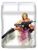 Action Girl Duvet Cover