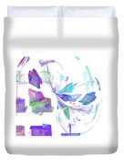 Action In Pastel Duvet Cover