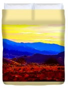 Acton California Sunset Duvet Cover
