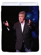 Actor And Comedian William Shatner Duvet Cover