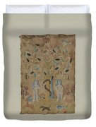 Adam & Eve Embroidered Picture Duvet Cover