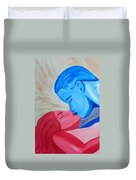 Adam And Eve Close Up Duvet Cover