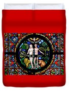 Adam And Eve, Dinant Duvet Cover