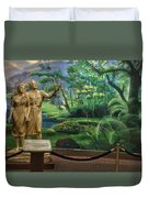 Adam And Eve Display Duvet Cover