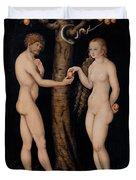 Adam And Eve In The Garden Of Eden Duvet Cover