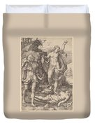 Adam And Eve Lamenting The Death Of Abel Duvet Cover