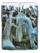 Adam Jewell At Maligne Canyon Duvet Cover
