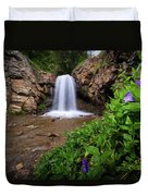 Adams Canyon Lower Falls Spring Duvet Cover