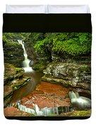 Adams Falls Landscape Duvet Cover