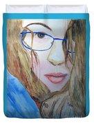 Addie In Blue Duvet Cover