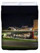 Adelaide Riverbank At Night II Duvet Cover