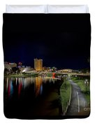 Adelaide Riverbank At Night Iv Duvet Cover