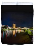 Adelaide Riverbank At Night Vi Duvet Cover