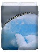 Adelies In Blue Iceberg Duvet Cover