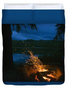Adirondack Campfire Duvet Cover