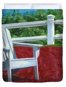 Adirondack Chair On Cape Cod Duvet Cover by Dominic White