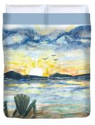 Adirondack Chairs With A View Duvet Cover by Reed Novotny