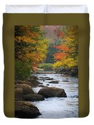 Adirondack Fall Stream 2 Duvet Cover