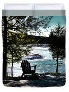 Adirondack Silhouette Duvet Cover