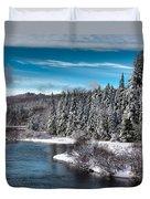 Adirondack Snowfall Duvet Cover