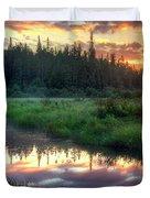 Adirondack Sunrise Duvet Cover