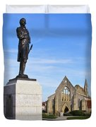 Admiral Lord Nelson And Royal Garrison Church Duvet Cover