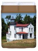 Admiralty Head Lighthouse Duvet Cover