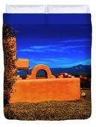 Adobe At Sunset Duvet Cover
