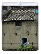 Adobe Building In Otavalo Duvet Cover