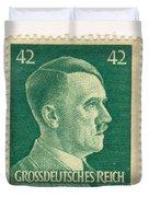 Adolf Hitler 42 Pfennig Stamp Classic Vintage Retro Duvet Cover
