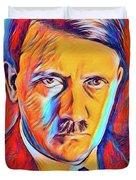 Adolf Hitler, Leaders Of Wwii Series.  Duvet Cover