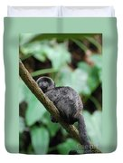 Adorable Black Goeldi's Marmoset Duvet Cover