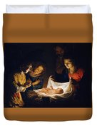 Adoration Of The Child Duvet Cover