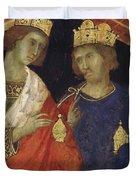 Adoration Of The Magi Fragment 1311 Duvet Cover