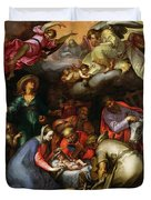 Adoration Of The Shepherds Duvet Cover