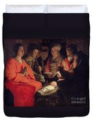 Adoration Of The Shepherds Duvet Cover by Georges de la Tour
