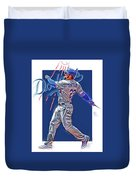 Adrian Gonzalez Los Angeles Dodgers Oil Art Duvet Cover