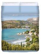 Adriatic Coast In Croatia Duvet Cover
