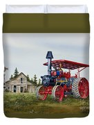 Advance Rumely Steam Traction Engine Duvet Cover