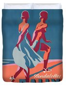 Advertisement For Bally Sandals Duvet Cover by Druck Gebr