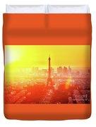 Sunset In Paris  Duvet Cover