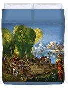 Aeneas And Achates On The Libyan Coast 1520 Duvet Cover