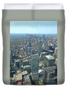 Aerial Abstract Toronto Duvet Cover