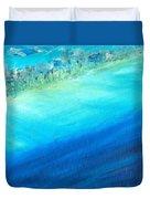 Aerial Coastline Duvet Cover